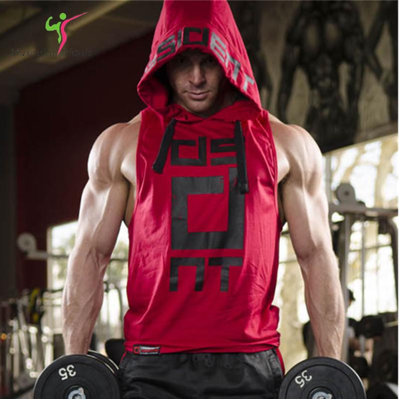 b6dabaffc59e3 2017 Brand Stretchy Sleeveless Shirt Casual Fashion Hooded Gyms Tank Top  Men bodybuilding Fitness Clothing – Xpress Warehouse