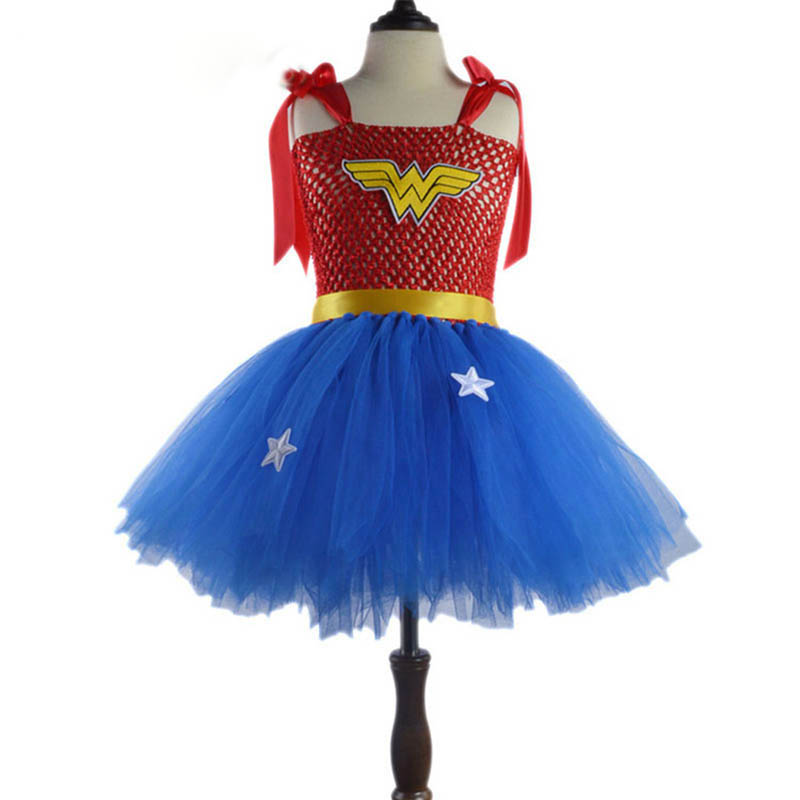 2017 Girls Superhero Costume Wonder Woman Dress Batman Dress Children Summer Tutu Dress Tulle Skirt Halloween Costumes For Kids  sc 1 st  Xpress Warehouse & 2017 Girls Superhero Costume Wonder Woman Dress Batman Dress ...