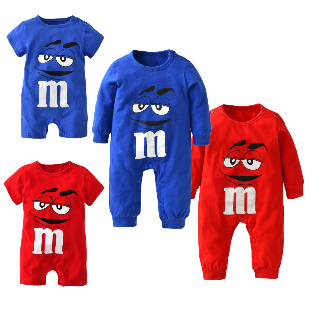 4e401afb7ea5 2017 New fashion baby boys girls clothes newborn blue and red Long ...