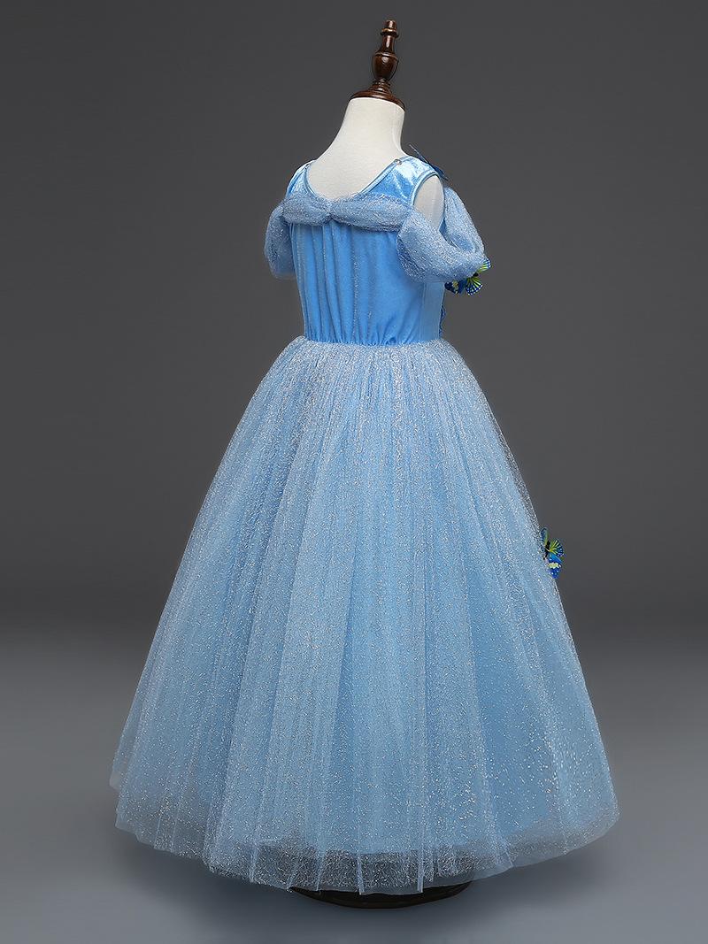 Girl Elsa Cosplay Dress Sequined Princess Cinderella Fancy