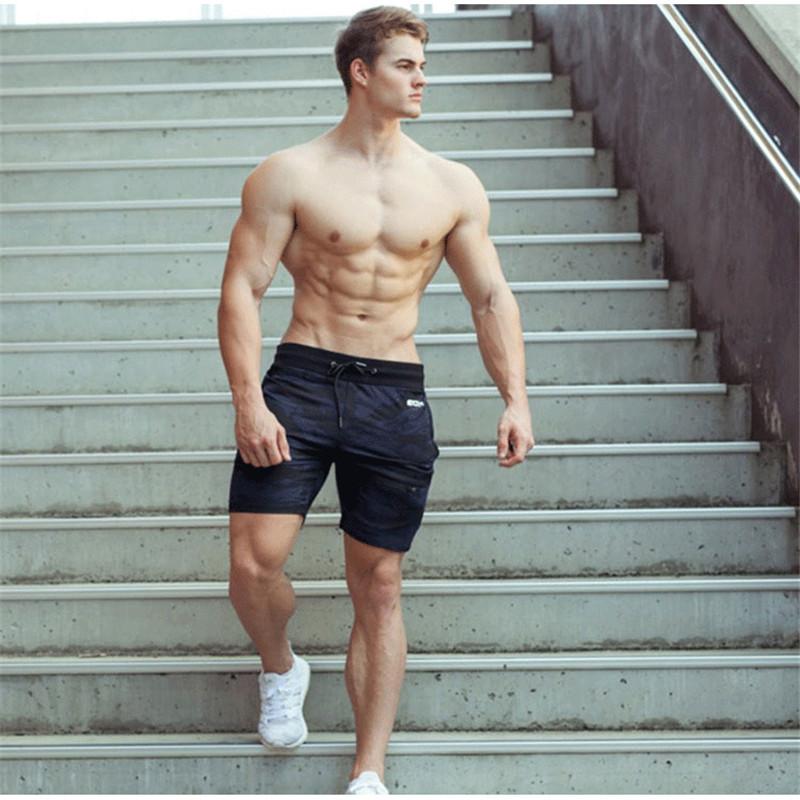 New Fashion Men Sporting Beaching Shorts Trousers Cotton Bodybuilding Sweatpants Fitness Short ...